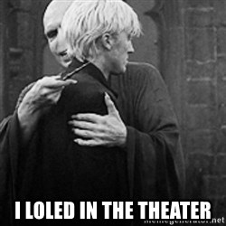 draco hugs voldemort -  i loled in the theater