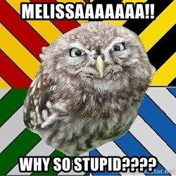 JEALOUS POTTEROMAN - melissaaaaaaa!! why so stupid????