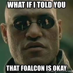 Nikko Morpheus - WHAT IF I TOLD YOU that foalcon is okay