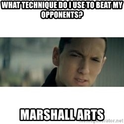 eminem determined - WHAT technique do i use to beat my opponents? marshall arts