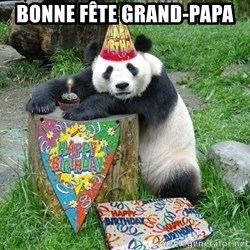 Happy Birthday Panda - Bonne fête Grand-papa