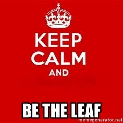 Keep Calm 2 - Be the Leaf