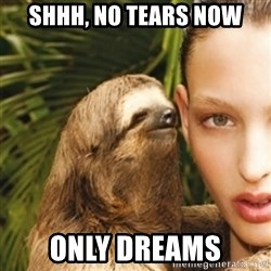 sexy sloth - Shhh, no tears now only dreams