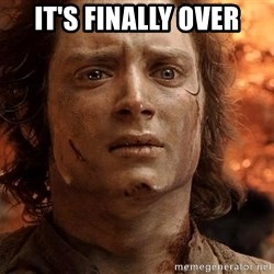 Frodo  - It's finally over