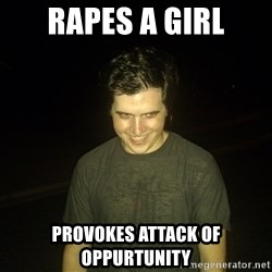 Rapist Edward - Rapes a girl provokes attack of oppurtunity
