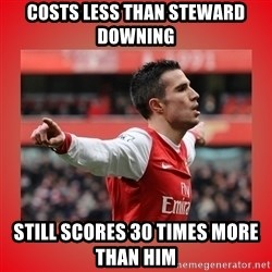 Robin Van Persie Meme - Costs less than steward downing still scores 30 times more than him