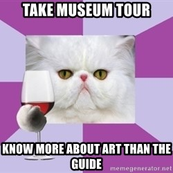 Art History Major Cat - Take museum tour know more about art than the guide
