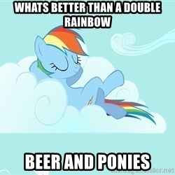 My Little Pony - whats better than a double rainbow beer and ponies