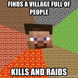 Minecraft Guy - Finds a village full of people kills and raids