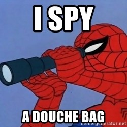 Spiderman Lunar Eclipse - I Spy a douche bag