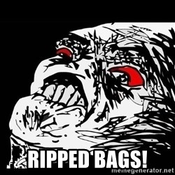Rage Face -  Ripped bags!
