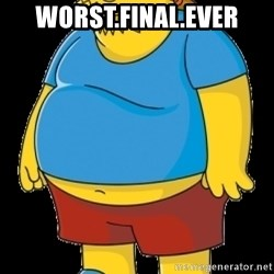 comic book guy - Worst.final.ever