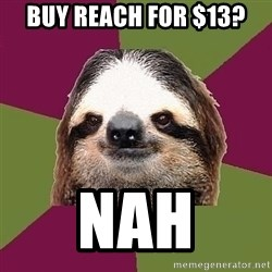 Just-Lazy-Sloth - buy reach for $13? nah