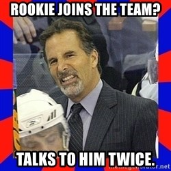 Torts Logic - Rookie joins the team? talks to him twice.