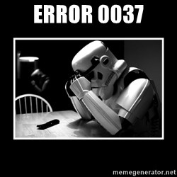 Sad Trooper - Error 0037