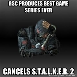 StalkerFaceNew - gsc produces best game series ever cancels s.t.a.l.k.e.r. 2