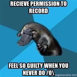 Podfic Platypus - recieve permission to record feel so guilty when you never do /o\