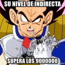 Vegeta - SU NIVEL DE INDIRECTA  SUPERA LOS 9000000
