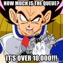 Vegeta - How much is the queue? it's over 10,000!!!