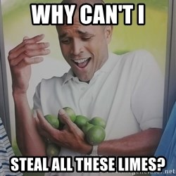 Limes Guy - why can't i steal all these limes?