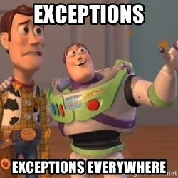 Tseverywhere - EXCEPTIONS EXCEPTIONS EVERYWHERE
