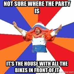 dutchproblems.tumblr.com - not sure where the party is it's the house with all the bikes in front of it