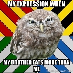 JEALOUS POTTEROMAN - My expression when my brother eats more than me