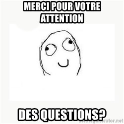 dafuq did i just read face - Merci pour votre attention Des questions?
