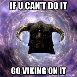 Skyrim - if u can't do it go viking on it