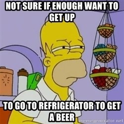 Simpsons' Homer - not sure if enough want to get up to go to refrigerator to get a beer