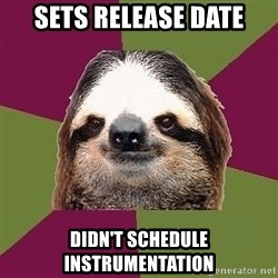 Just-Lazy-Sloth - sets release date didn't schedule instrumentation