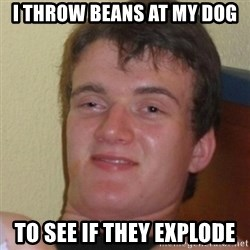 Stoner Stanley - i throw beans at my dog to see if they explode