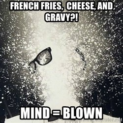 mind blown - FRENCH FRIES,  CHEESE, AND GRAVY?! Mind = blown