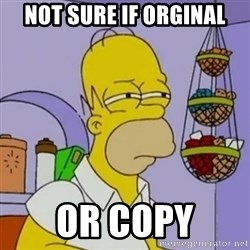 Simpsons' Homer - Not sure if orginal or copy