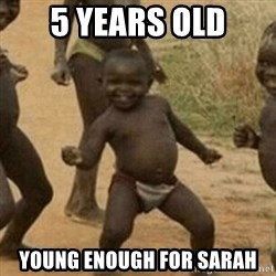 Little Black Kid - 5 years old young enough for sarah