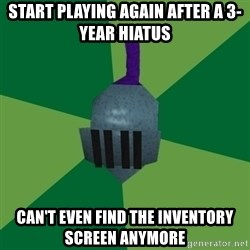 Runescape Advice - start playing again after a 3-year hiatus can't even find the inventory screen anymore