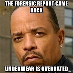 Ice T Sex Addiction Description  Examples - The forensic report came back UNDERWEAR IS OVERRATED