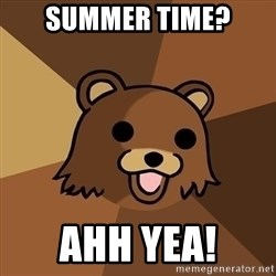 Pedobear - Summer time? Ahh yea!