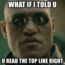 Nikko Morpheus - What if i told u u read the top line right