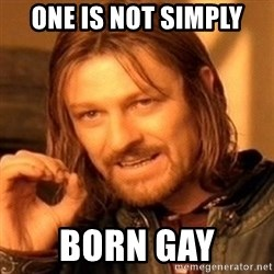 One Does Not Simply - One is not simply Born gay