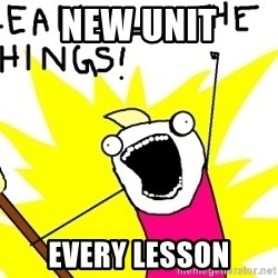 clean all the things - new unit every lesson