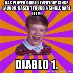 Unlucky Brian Strikes Again - Has played diablo everyday since launch, hasen't found a single rare item diablo 1.