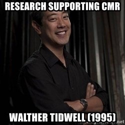 Most Interesting Geek In The World - Research SUPPORTing CMR Walther Tidwell (1995)
