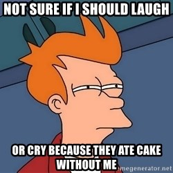 Futurama Fry - Not sure if i should laugh or cry because they ate cake without me