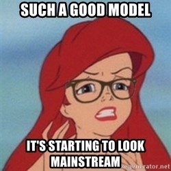 Hipster Ariel- - such a good model it's starting to look mainstream