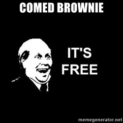 it's free - comed brownie