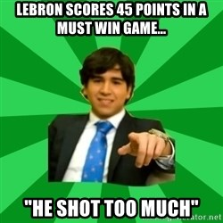 """Pablo Alvarez Meana - Lebron Scores 45 points in a must win game... """"He shot too much"""""""
