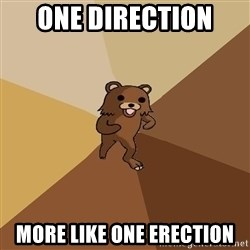 Pedo Bear From Beyond - one direction  more like one erection