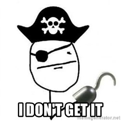 Poker face Pirate -  I don't get it