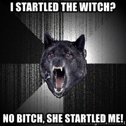 Insanity Wolf - i startled the witch? no bitch, she startled me!
